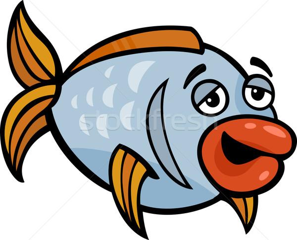 funny fish cartoon illustration Stock photo © izakowski