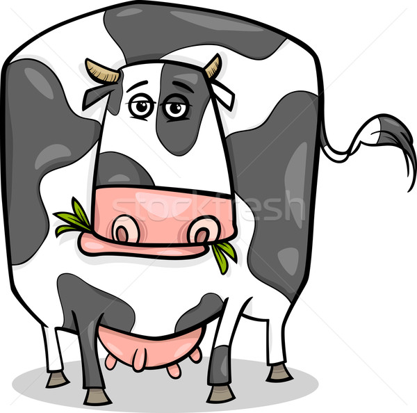 cow farm animal cartoon illustration Stock photo © izakowski