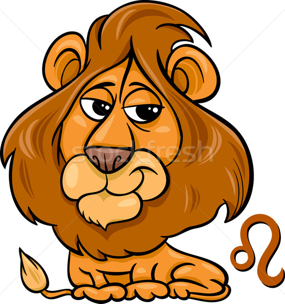 leo or the lion zodiac sign Stock photo © izakowski
