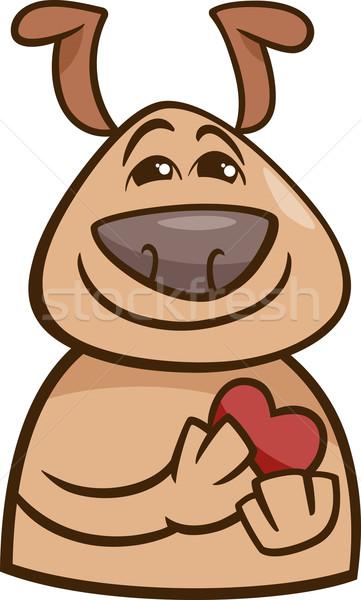 Cane amore cartoon illustrazione divertente Foto d'archivio © izakowski