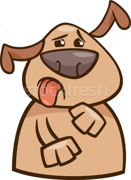 dog expressing yuck cartoon illustration Stock photo © izakowski