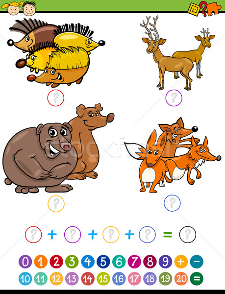 mathematical task for preschoolers Stock photo © izakowski