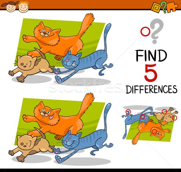 образовательный различия задача Cartoon иллюстрация Сток-фото © izakowski