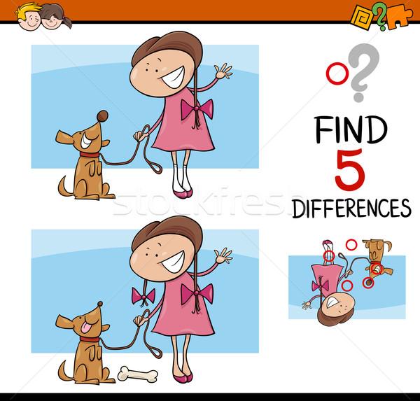 Activiteit kinderen cartoon illustratie bevinding Stockfoto © izakowski