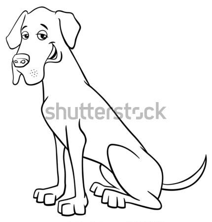 собака Cartoon иллюстрация чистокровных собак счастливым Сток-фото © izakowski