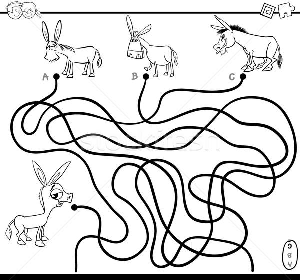 maze path game coloring page Stock photo © izakowski