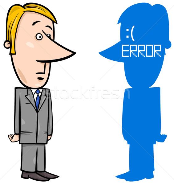Imprenditore errore di cartoon illustrazione blu schermo Foto d'archivio © izakowski