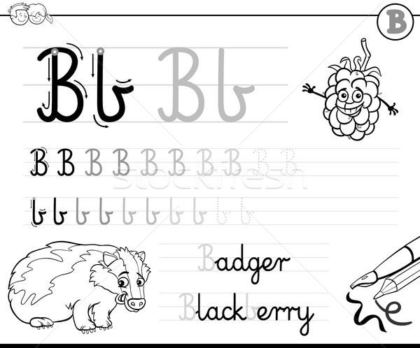 learn to write letter B workbook for kids Stock photo © izakowski