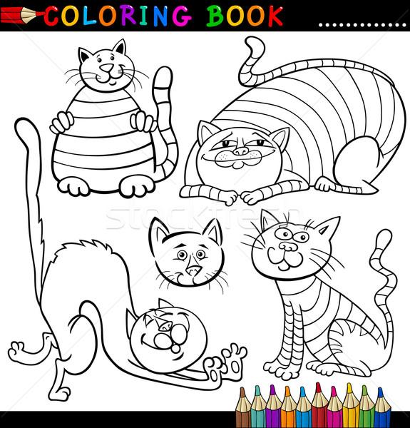 漫画 猫 塗り絵の本 実例 面白い ストックフォト © izakowski