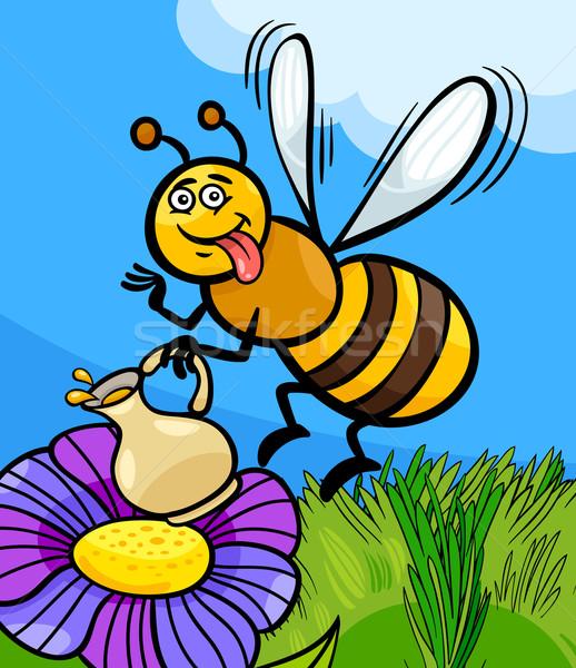 Háziméh rovar rajz illusztráció vicces méh Stock fotó © izakowski