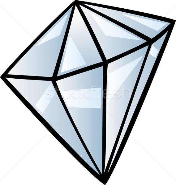 Gyémánt clip art rajz illusztráció drágakő kő Stock fotó © izakowski