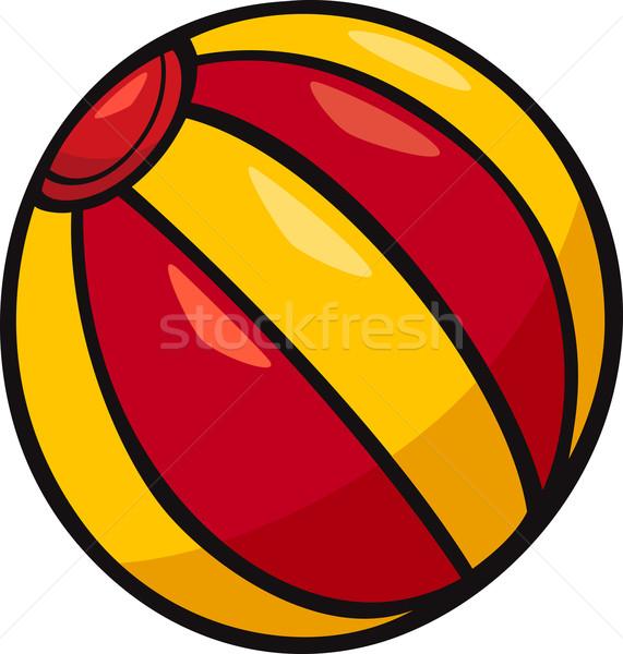 мяча темам Cartoon иллюстрация пляжный мяч дизайна Сток-фото © izakowski