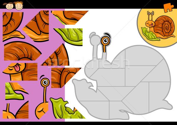 Desenho animado caracol jogo ilustração educação Foto stock © izakowski
