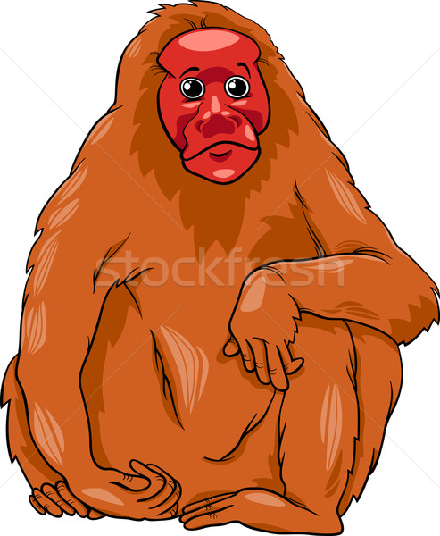 uakari animal cartoon illustration Stock photo © izakowski
