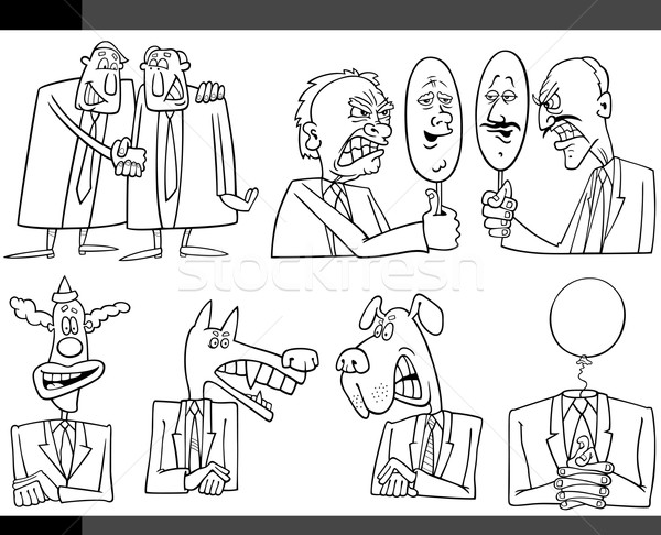 cartoon politics concepts set Stock photo © izakowski