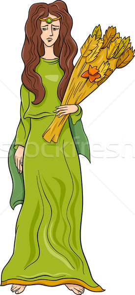 Greco dea cartoon illustrazione mitologico donna Foto d'archivio © izakowski