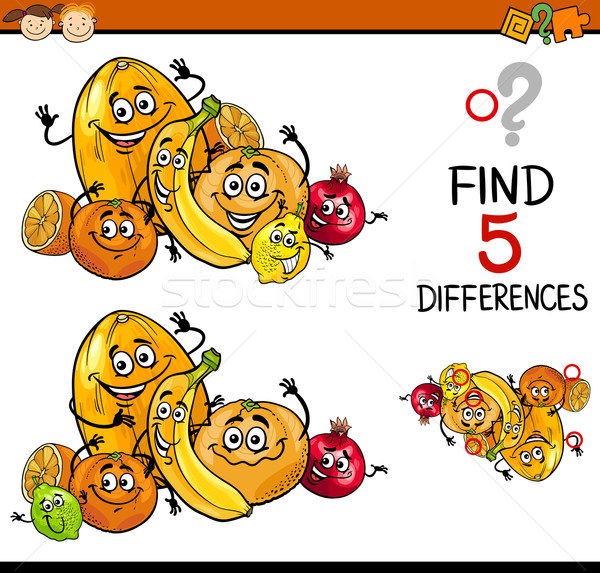 educational task of differences Stock photo © izakowski