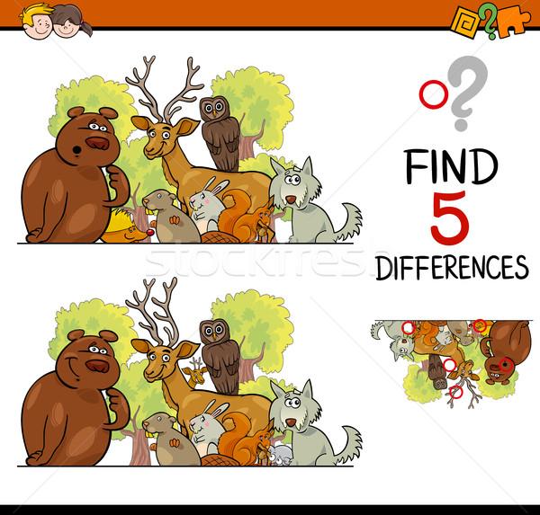 Farklılıklar oyun çocuklar karikatür örnek Stok fotoğraf © izakowski