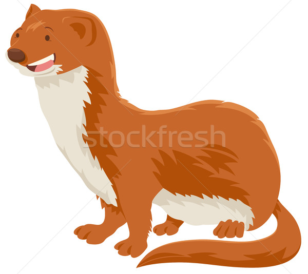 weasel cartoon animal character Stock photo © izakowski