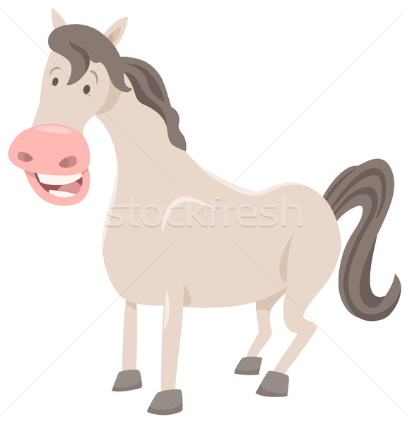 funny horse farm animal Stock photo © izakowski