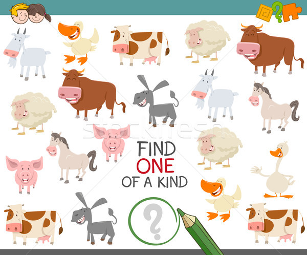 find one of a kind of farm animals Stock photo © izakowski