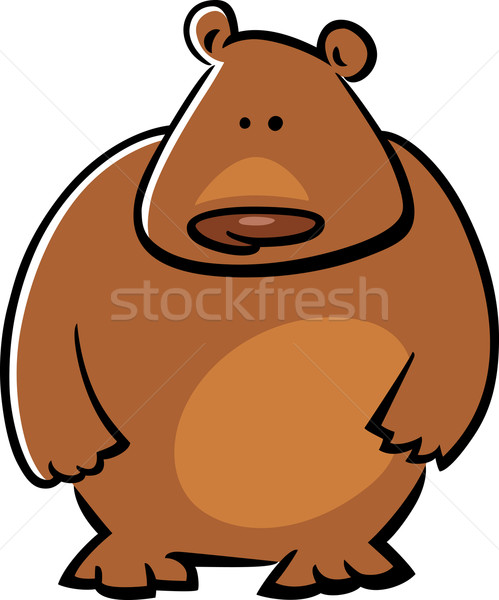 Cartoon doodle ours illustration cute ours brun Photo stock © izakowski
