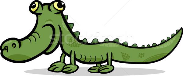 Cocodrilo animales Cartoon ilustración funny lagarto Foto stock © izakowski