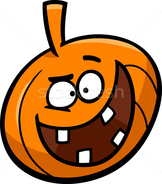 halloween pumpkin cartoon illustration Stock photo © izakowski