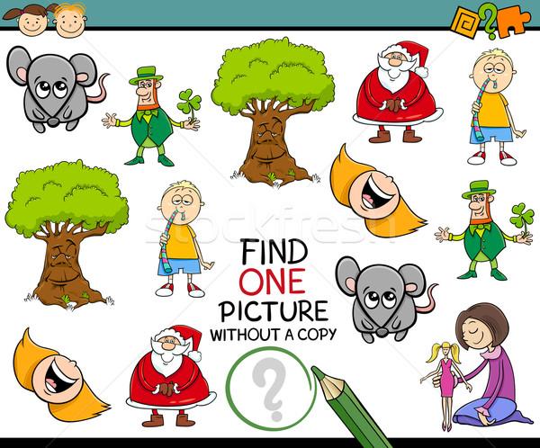 Tarea ninos Cartoon ilustración educativo Foto stock © izakowski