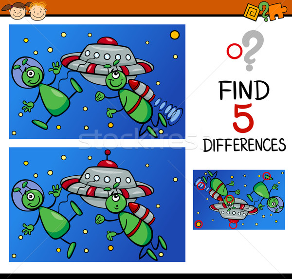 differences for preschoolers Stock photo © izakowski