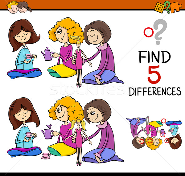 find the differences game Stock photo © izakowski