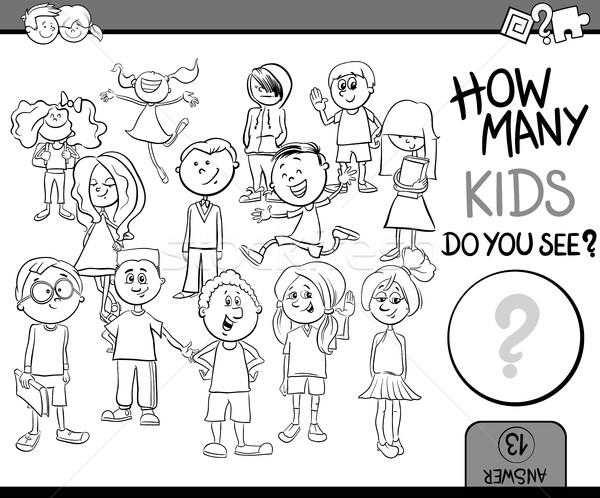 how many children coloring book Stock photo © izakowski