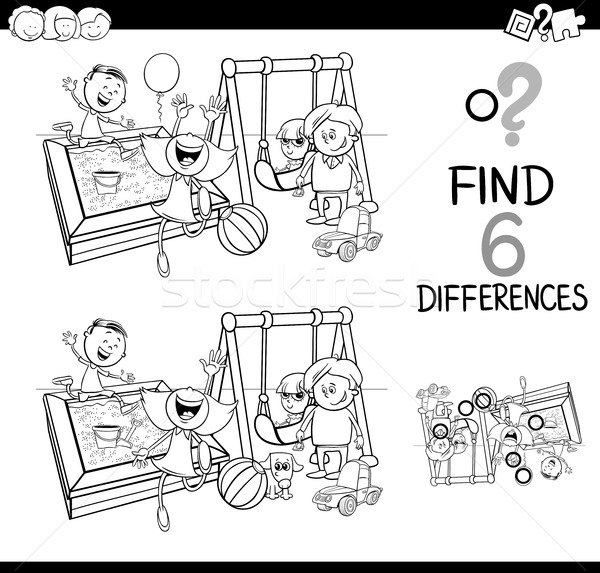 difference game coloring page Stock photo © izakowski