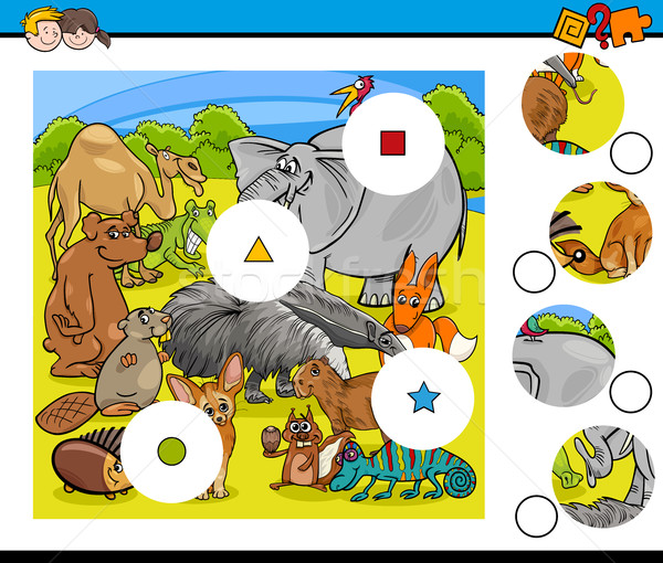 animals match pieces game Stock photo © izakowski