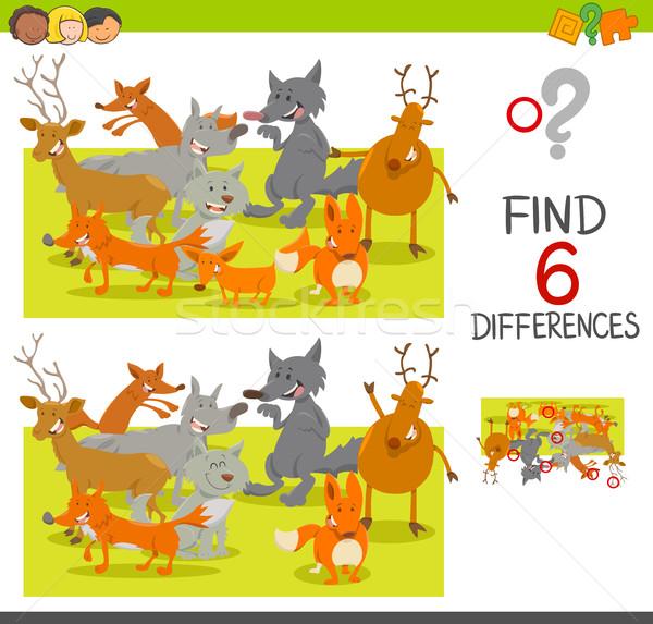 Miejscu różnice gry cartoon ilustracja Zdjęcia stock © izakowski