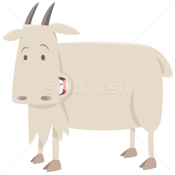 Rajz kecske állat karakter illusztráció aranyos Stock fotó © izakowski