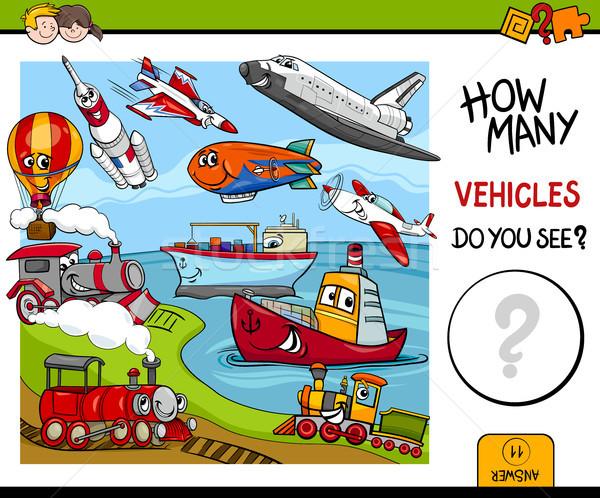Pojazdy gry cartoon ilustracja działalność Zdjęcia stock © izakowski