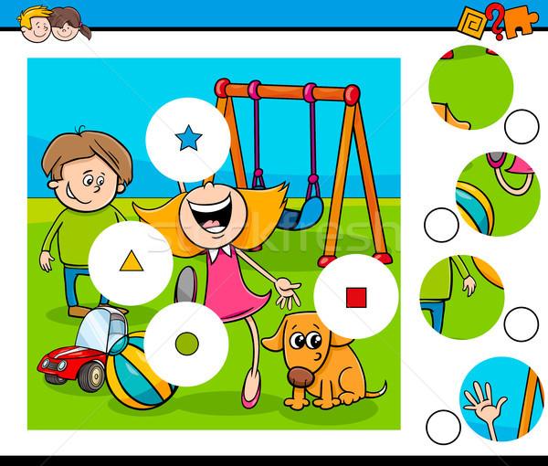 一致 ピース パズル 子供 遊び場 漫画 ストックフォト © izakowski