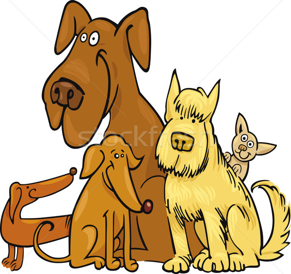 Five funny Dogs Stock photo © izakowski