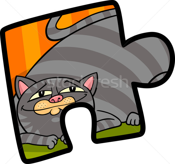 Clipart cartoon illustration design puzzle Photo stock © izakowski