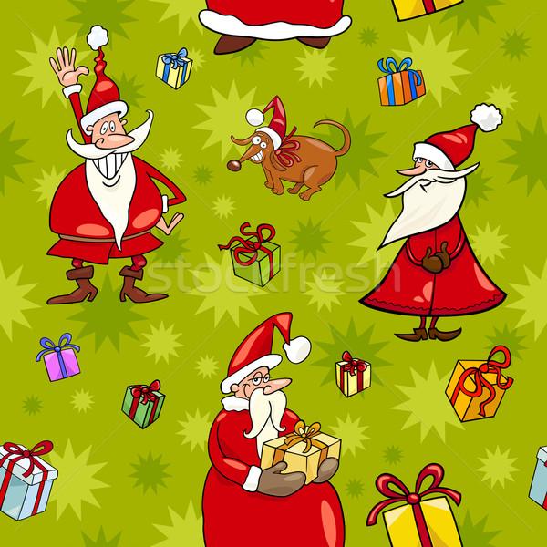 christmas cartoon seamless pattern design Stock photo © izakowski