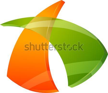 3D signe symbole design graphique résumé icône Photo stock © izakowski