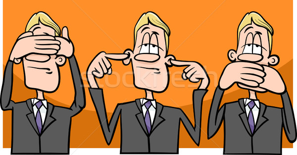 see hear speak no evil Stock photo © izakowski