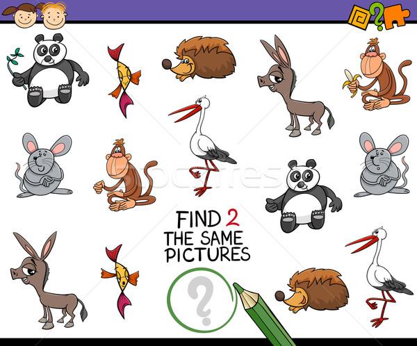 Rajz feladat gyerekek illusztráció megállapítás kép Stock fotó © izakowski