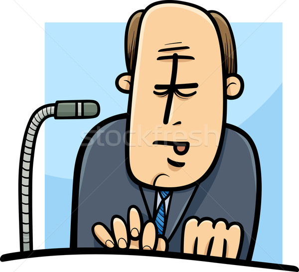 politician giving speech cartoon Stock photo © izakowski