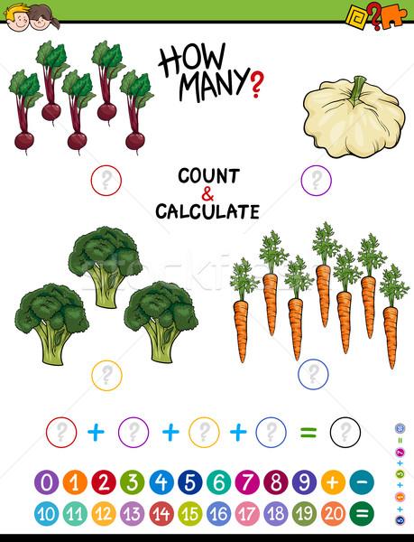 Educativo ragazzi cartoon illustrazione matematico algebra Foto d'archivio © izakowski