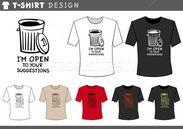 Design Mülleimer Illustration tshirt Design-Vorlage Stock foto © izakowski