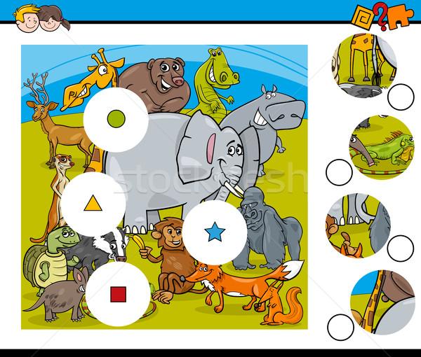 動物 一致 ピース ゲーム 漫画 実例 ストックフォト © izakowski