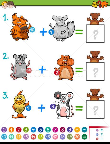 Oktatási matematika tevékenység gyerekek rajz illusztráció Stock fotó © izakowski