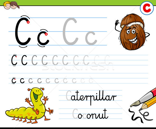 how to write letter C worksheet for kids Stock photo © izakowski